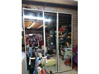3 large glass mirrors 60×217cm ideal for project or gym
