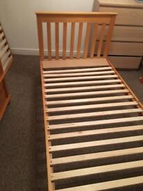 Kids single bed and truckle bed