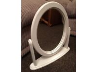 WHITE DRESSING TABLE MIRROR, GOOD CONDITION