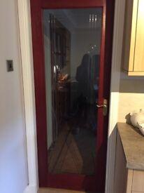 Internal hardwood doors with handles/hinges
