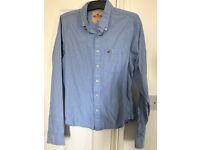 Hollister - Light Blue / Red Logo Classic long sleeve shirt - XL