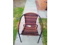 Dark brown wicker chair