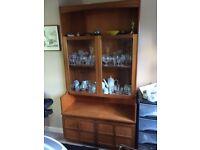 Three teak wood Nathan units for sale. Good storage and display.