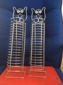 pair DVD cat face racks