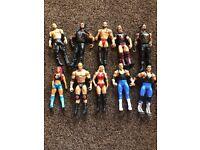 WWE x 10 Figures & Wrestling Ring