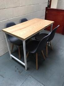 Industrial table & chairs/kitchen/furniture/bistro/bar