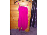 M&Co Kylie Age 9 Yrs Dark Red Party Dress