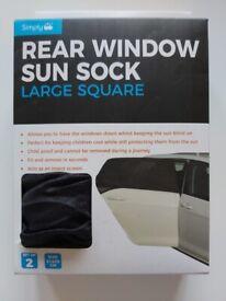 Large Square Rear Window Sun Sock 2 Pack