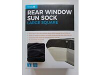Large Square Rear Window Sun Sock 2 Pack
