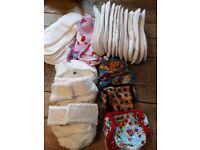 Newborn re-usable nappy bundle