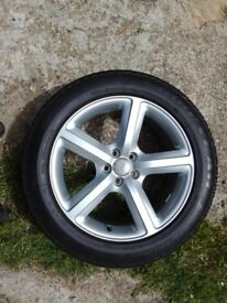 "Audi Q5 genuine Sline 19"" wheel with tyre 235 55 19 x1"