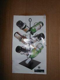 Black wire wine rack