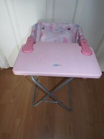 Baby Born Doll's Toy Highchair in Excellent Condition