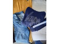 Boys Hype Hoodie and Jeans