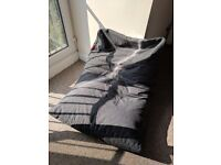 Large Grey Beanbag Chair, Mouldable. Great For Kids/Gaming/Chilling. Great Condition