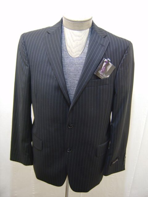 Mens 100 Wool Coat 44l 44 Kenneth Roberts Black Blazer Jacket ...