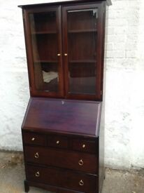 RETRO/VINTAGE STAG BUREAU/DISPLAY UNIT VERY NICE ITEM WELL LOOKED AFTER PIECE FREE LOCAL DELIVERY