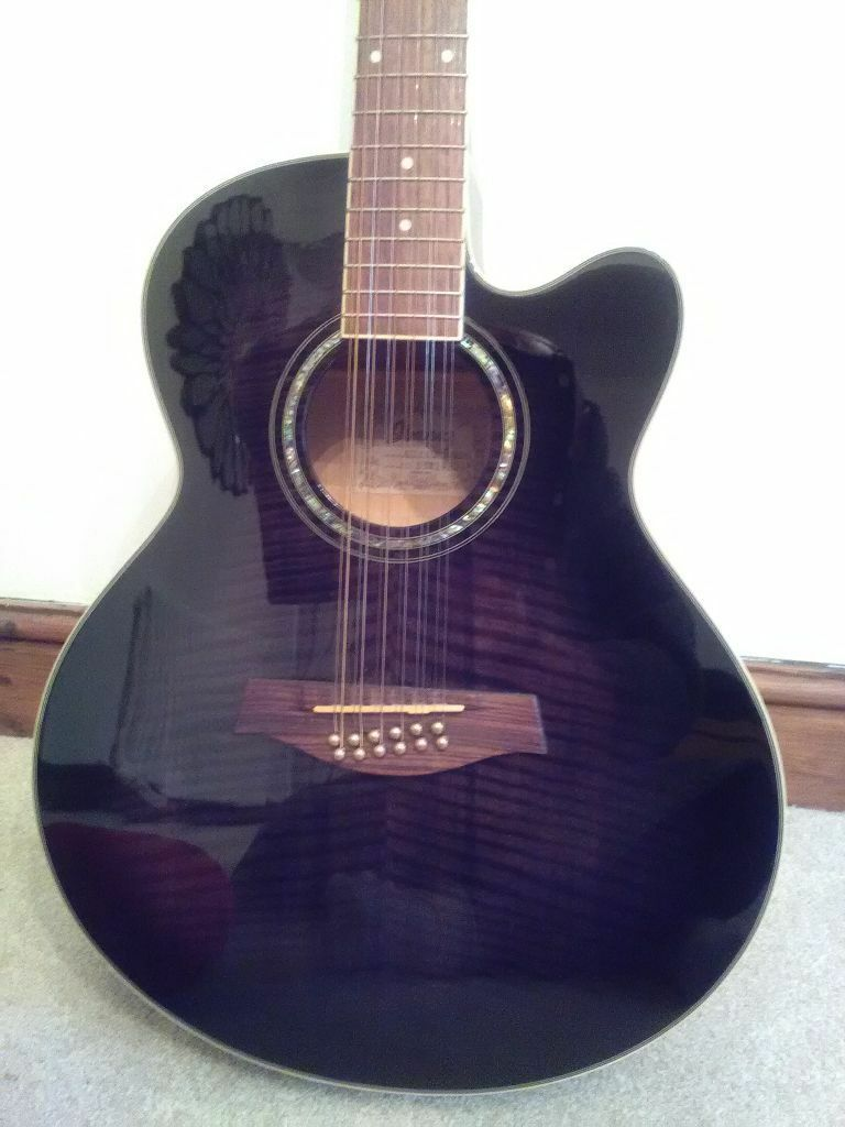 Ibanez AEL 2012ETKS 12 String Acoustic Electric Guitar Lovely Condition Built In Tuner