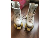 Sovereign white SFR roller skates roller boots adult size 8