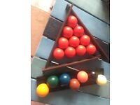Snooker and Pool balls.