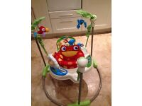 Fisher Price Rainforest Jumparoo baby bouncer in very good condition, rarely used. Ideal Xmas gift.