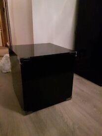 Black Glass Cube / Window Display Prop / Side Table / Bedside RRP £95