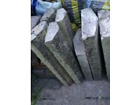 weathered wall coping / capping stones - precast concrete