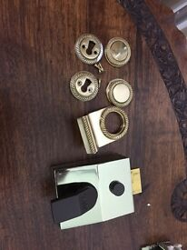 Brass door closer and furnishing
