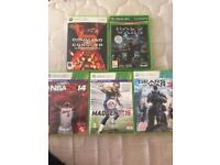 Xbox 360 games 5 for £5