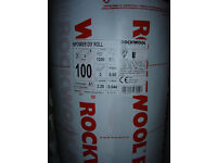 100mm Rockwool (pre-split) Twin Roll Loft Roof Insulation 6.6m2 Pack: 1.2m x 2.75m NEW