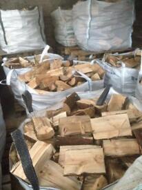 Well seasoned firewood (logs, blocks, fire, wood, tree, heat, fuel)