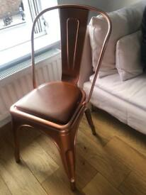 Copper & Tan Industrial Chair