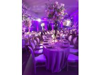 Wedding & Event decorations - centrepieces - chair covers - starlight backdrop - 07599132002