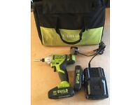 Guild 18v impact drill with two batteries and charger