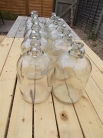 10 x glass demijohns / wedding / wine making / flowers / decorations