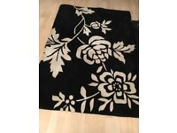Beautiful rug for sale. Black and white design