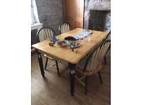 Dining/Kitchen Table with 4 chairs, good condition