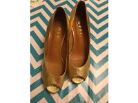 Gold shoes Size 3