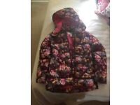 Girls winter coat aged 7-8