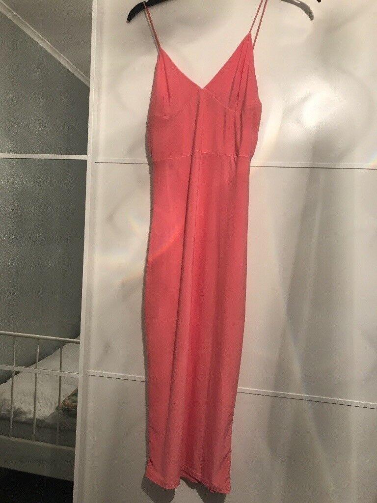 Pink bodycon midi dress size 6 Club L
