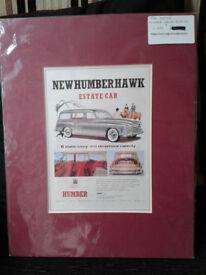 Humber Hawk Estate Car Print. c1958