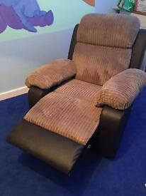 Nearly new armchair recliner