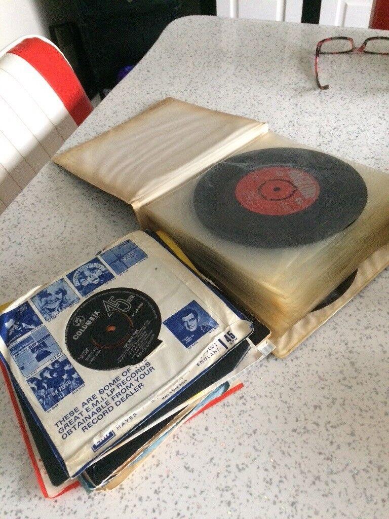Mix of vinyl records