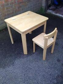 Wooden Desk and Chair (child's)