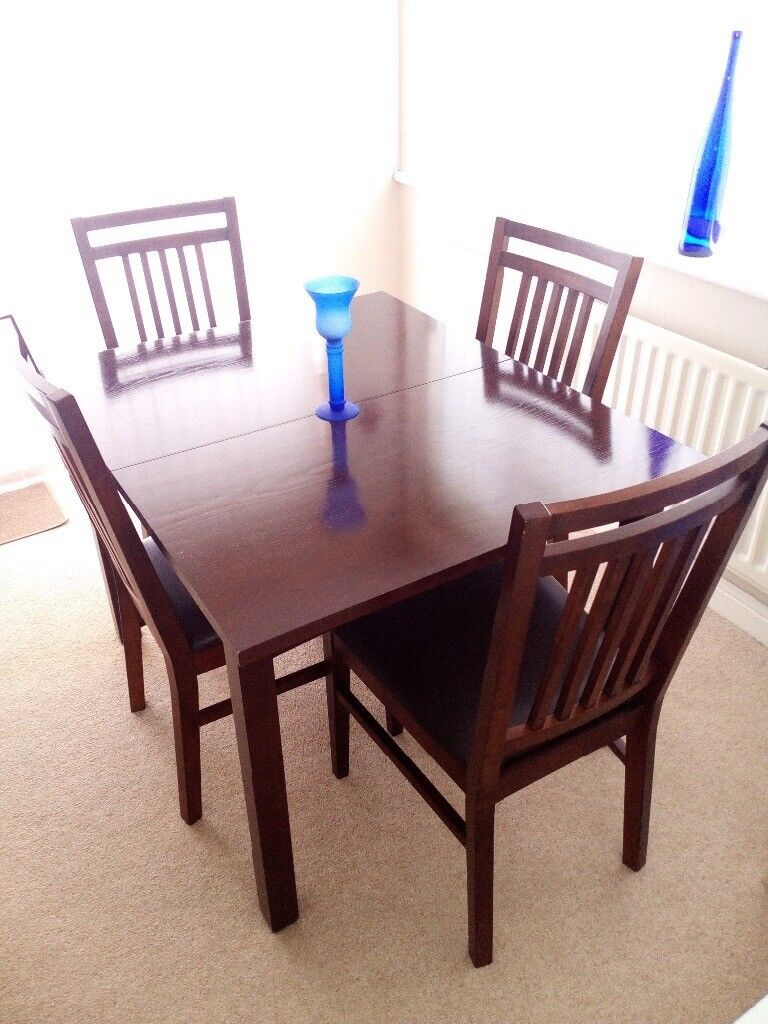 Extending Dining Tablechairs And Cabinet