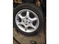 Alloy wheels 14 inch good tyres
