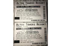 Alton tower tickets 13/08/17