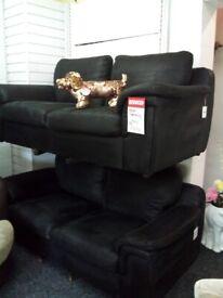 Sofology black sofa suite