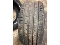 Tyres, 4x 225/45/17 1x 225/35/18