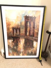 Brooklyn Bridge large framed print